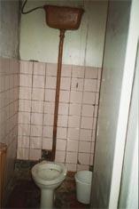 Toilet på hospitalet i Opotjka.