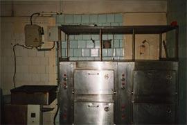 køkkenet på hospitalet i Opotjka.
