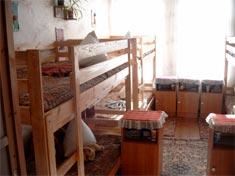 Soverum på Skolehjemmet i Opotjka.